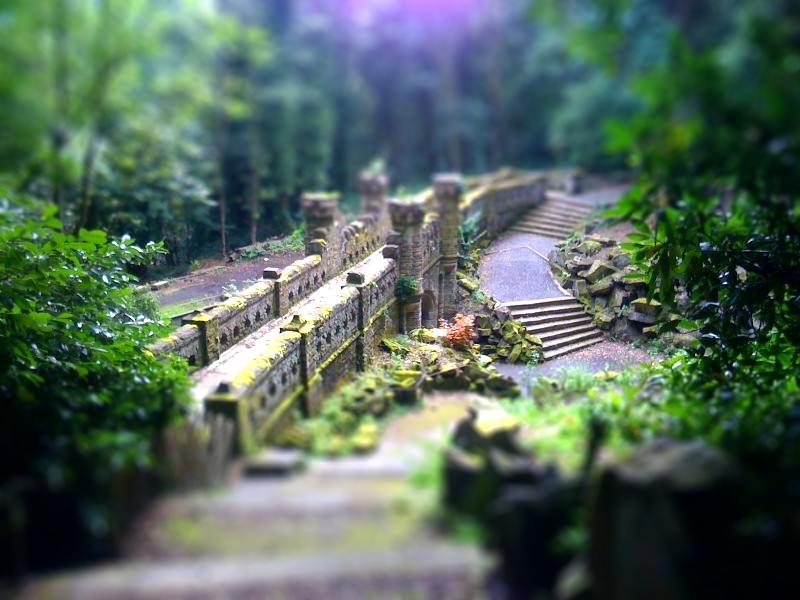 Beaumont Park on Toy Train Cars